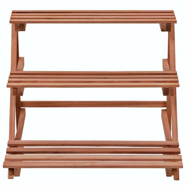 3-Piętrowy Regał Na Rośliny Z Drewna Cedrowego, 48 X 45 X 40 Cm zdjęcie 3
