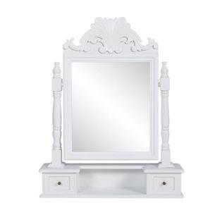 Toaletka z MDF z obrotowym, kwadratowym lustrem