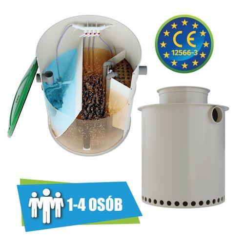 Przydomowa oczyszczalnia ścieków 1-4 osób + studnia chłonna 550l na Arena.pl