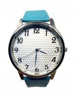 Pikowany Damski Zegarek Pasek Klasyczny Niebieski