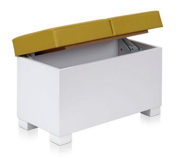 Pufa ERGO MORERN BOX 2 ławka ze schowkiem DWUOSOBOWA podwójna BIAŁA