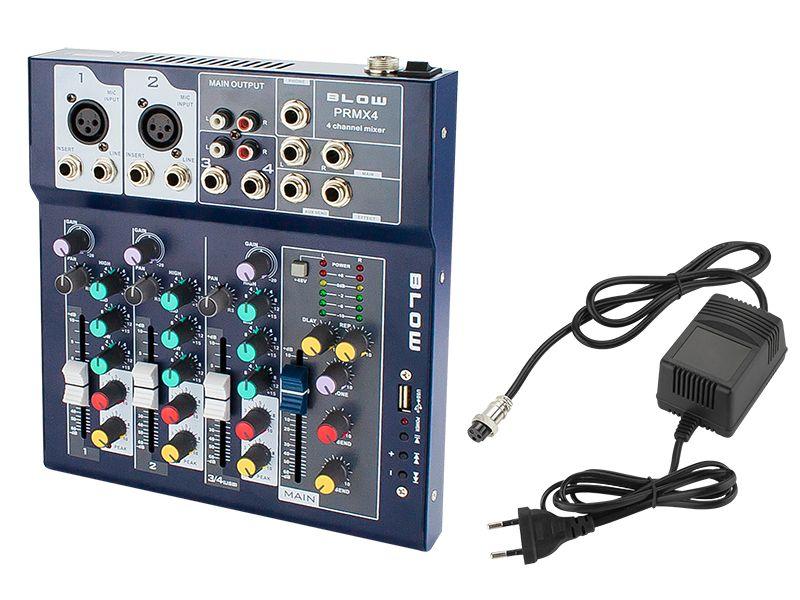 Kompaktowy mikser audio Blow PRMX 4 USB RCA 4-kanały