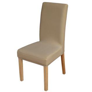 Elastyczny pokrowiec na krzesło spandex, kolor beżowy