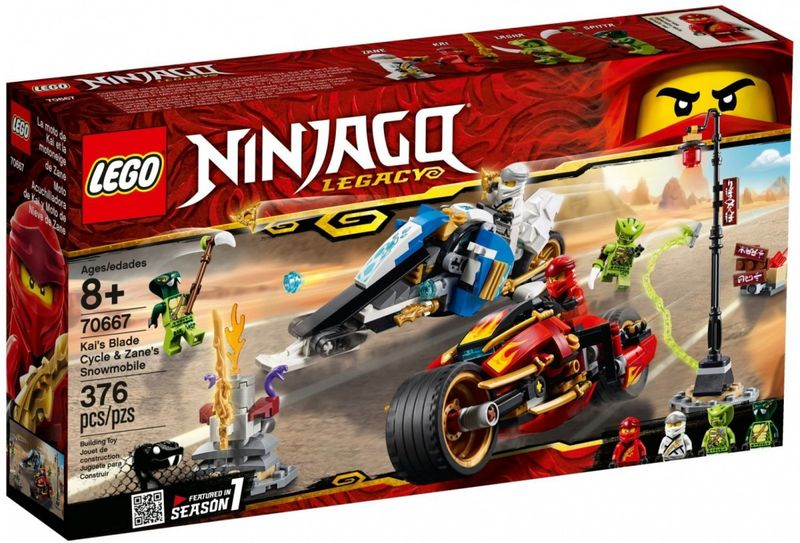 Lego Ninjago Motocykl Kaia I Skuter Zanea Arenapl