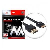Kabel HDMI A-C Maclean MCTV-711 HDMI 1.4 (M) - miniHDMI 1.4 (M) ULTRA SLIM, czarny 1m