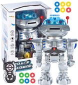 Duży Robot Zdalnie sterowany dla dzieci Strzelający krążkami U188