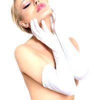 Białe Długie Rękawiczki Satynowe SoftLine 7702 S-L (uniwersalny)