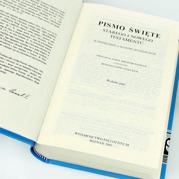 BIBLIA Pismo Święte ETUI Komunia prezent GRAWER na Arena.pl