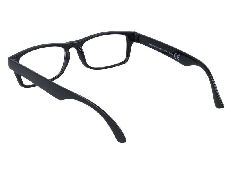 Czarne okulary korekcyjne do czytania plusy +3.50 zdjęcie 3