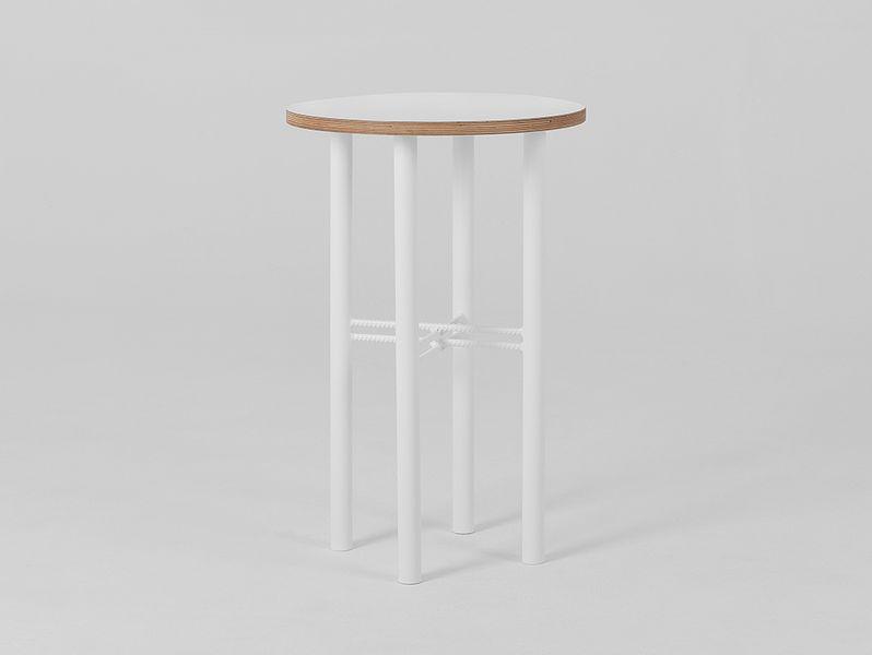 Stolik PENTO 40 - biały, biały, styl design skandynawski, kwietnik zdjęcie 2