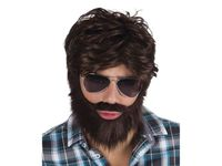 Peruka męska z brodą i wąsami