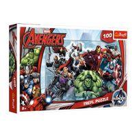 PUZZLE 100 TREFL MARVEL THE AVENGERS DO ATAKU 16272 5+