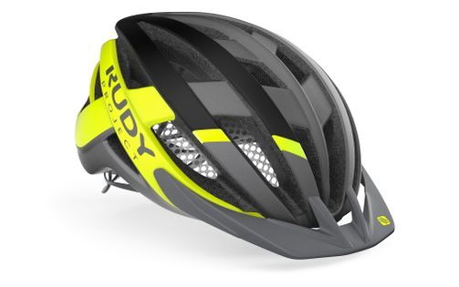 Kask rowerowy Rudy Project Venger Cross Titanium - Yellow Fluo (Matte) rozmiar M 55 – 59cm 2021
