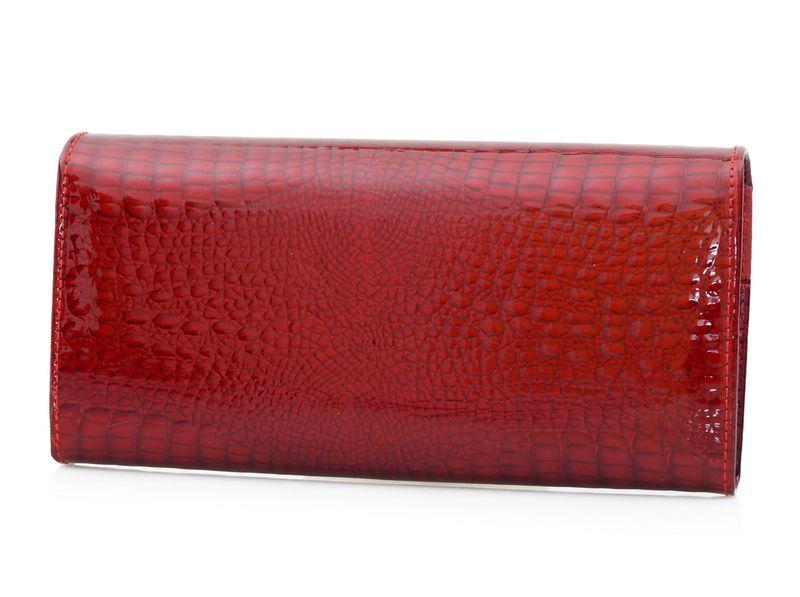 e2b472d2af8bf ALESSANDRO PAOLI portfel skórzany damski lakierowany cyrkonie P077 czerwony  zdjęcie 3