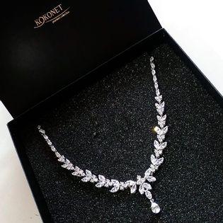 Kolia ślubna ASTRID silver KOKONET 8-0390