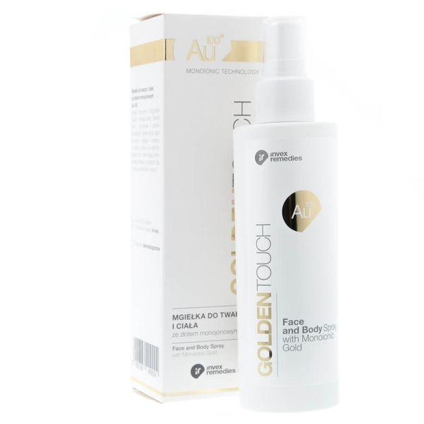 Invex Remedies Au100 Mgiełka do twarzy i ciała ze złotem 200 ml zdjęcie 1