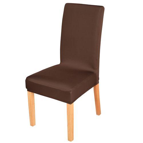 Elastyczny pokrowiec na krzesło spandex, kolor brązowy na Arena.pl