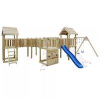 VidaXL Plac zabaw dla dzieci z drabinką, zjeżdżalnią i huśtawkami