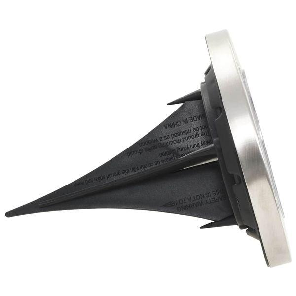 Solarne lampy gruntowe, 8 szt., ciepłe białe LED zdjęcie 5