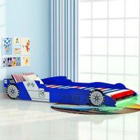 Łóżko dziecięce samochód 90x200cm, niebieskie