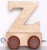 Wagonik z literką Z - LITERKA element z układanki ALFABET POCIĄG