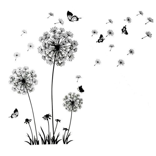 Naklejki Na ścianę ścienne Dmuchawce Motyle Ws 0068
