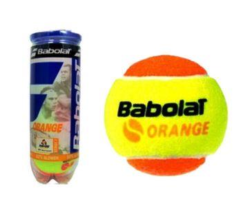 Miękkie piłki tenisowe do nauki markowe Babolat orange 3szt tuba