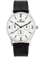 ZEGAREK MĘSKI Zegarek GINO ROSSI 10737A-3A1 silver/black Czarny | Srebrny