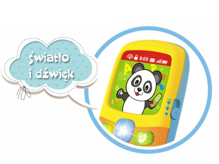 Kolorowy TELEFONIK Dla Maluszka Dźwięki Światła zdjęcie 7