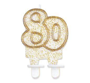 Świeczka Cyferka 80 na osiemdziesiąte Urodziny