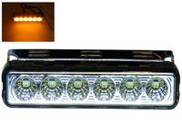 Lampa LED ostrzegawcza błyskowa 16 cm 12v 24v pomarańczowa migająca
