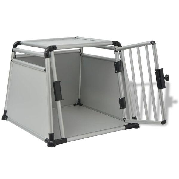 Klatka transportowa dla psa, aluminium, rozmiar L zdjęcie 4