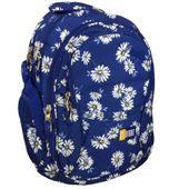Trzykomorowy plecak szkolny St.Right 29 L, Daisies BP1