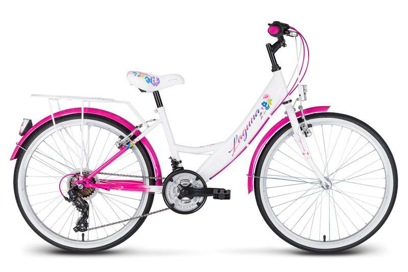 Rower 24 KANDS LAGUNA VS-1 ZWK biało-różowy zdjęcie 1