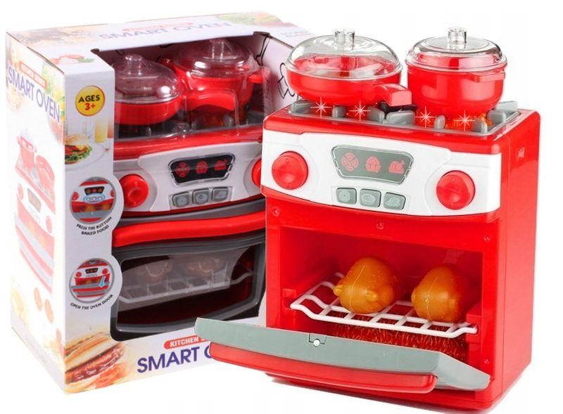 Kuchenka dla dzieci Piekarnik LED Garnki Kurczak Ruszt Kuchnia U29 zdjęcie 1
