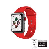 Crong Liquid Band - Pasek do Apple Watch 38/40 mm (czerwony)