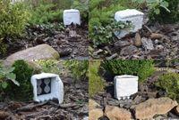 Przedłużacz Ogrodowy Kamień 4 Zamykane Gniazda Kolor Biały lub Szary