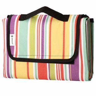 Koc plażowy piknikowy 130x170 cm mata kolorowe pasy