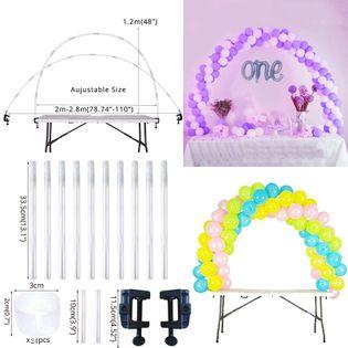 Zastawa Urodzinowa - Złota - Ekologiczna 38pcs Balloon Arch