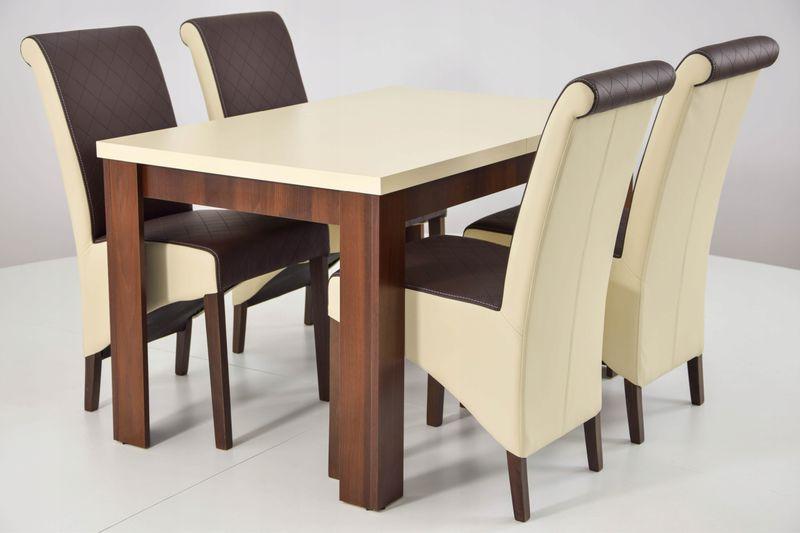 4 Krzesła I Rozkładany Stół Do Salonu Kuchni
