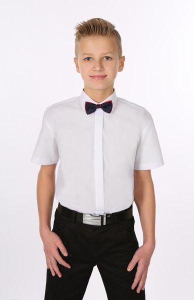 Biała koszula komunijna, krótki rękaw. 86 zdjęcie 2