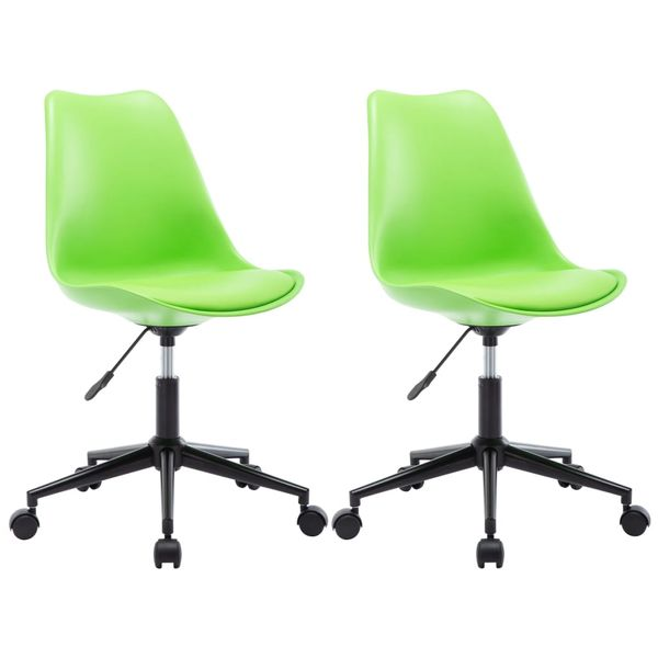 Krzesła jadalniane, 2 szt., obrotowe, zielone, sztuczna skóra GXP 683114