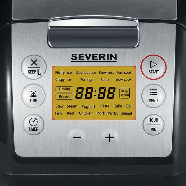 Urządzenie do gotowania SEVERIN 2448 WIELOFUNKCYJNE ~ wolnowar, urządzenie do gotowania ryżu, parowar, garnek zdjęcie 2