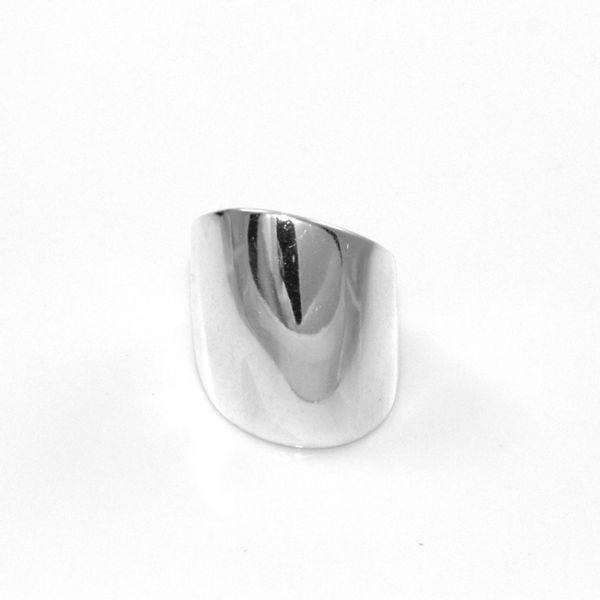 Modny pierścionek srebrny szeroki 27 zdjęcie 1