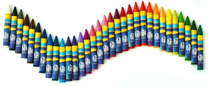 Kredki świecowe woskowe ASTRA 32 kolory zdjęcie 3