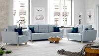 Zestaw SALEM 3+2+1 fotel kanapa funkcja spania
