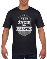Koszulka męska CA?E ZYCIE NA ASAPIE c S
