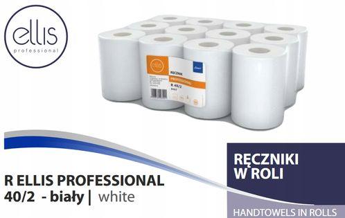 Ręczniki papierowe w roli białe 2w Ellis 40m A'12