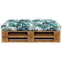 Poduszka na siedzisko ogrodowe, zielona, 120x80x10 cm, tkanina