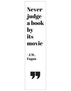 Zakładka do książki książek z cytatem LAMINOWANA